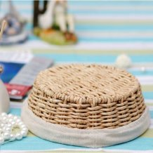 Hand Woven Corn Husk Storage Container / Basket