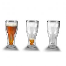 Personalized Engraved Hopside Down Double Wall Beer Glass
