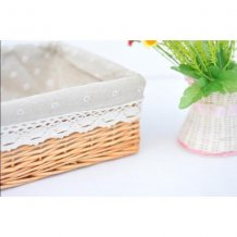 Large Hand Woven Wicker Storage Utility Basket