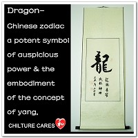 Custom Dragon Chinese Zodiac Symbol Calligrahpy Wall Scroll