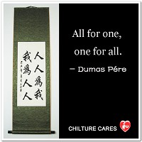 All For One, One for All Chinese Calligraphy Scroll