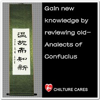 Gain Knowledge Quote Confucius Analects Calligraphy Wall Scroll
