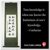 Knowledge Confucian Quote Calligraphy Wall Scroll