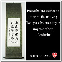 Scholars Study Confucius Quote Characters Calligraphy Wall Scroll