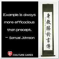 Example Efficacious Than Precept Chinese Calligraphy Scroll