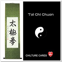 Tai Chi Chuan Chinese Calligraphy Art Wall Scroll