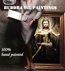 Hand-Painted Buddha Art Oil Paintings on Cavans
