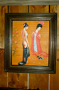 classical chinese nude art oil painting on canvas