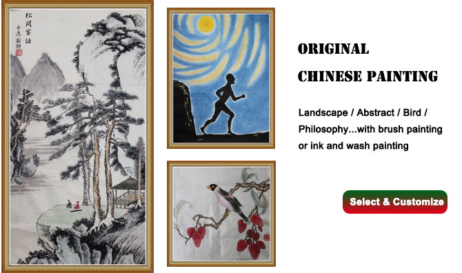 custom chinese painting wall art