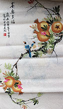 Joy and Happiness Chinese Birds Painting Wall Scroll