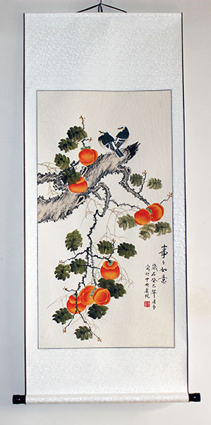 chinese birds painting art wall scroll
