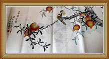 Joy and Happiness Chinese Birds Painting Wall Art