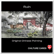 Ruin Original Chinese Painting Wall Art