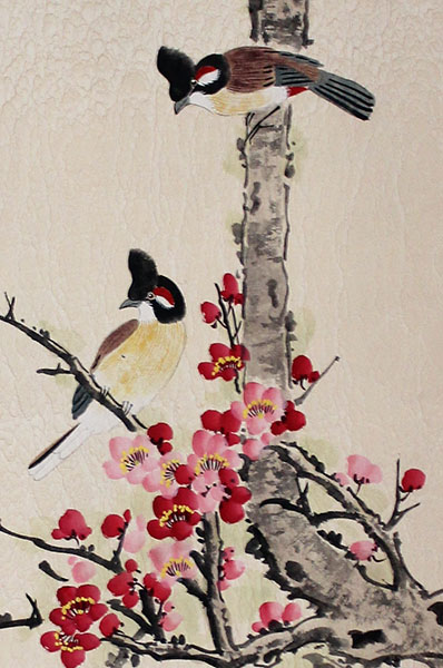 chinese brush painting birds art