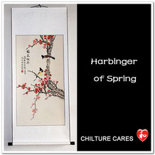 Spring, Large Chinese Birds Painting Art Wall Scroll