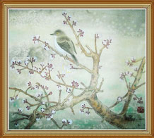 Bird Plum Blossoms Original Chinese Painting Wall Art