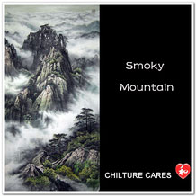 Original Chinese Smoky Mountain Landscape Painting Wall Scroll