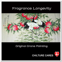 Longevity Original Chinese / Japanese Crane Art Painting