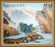 Tao Original Chinese Landscape Painting Wall Art Work