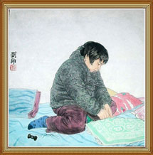 Mother Original Chinese Painting Wall Art Work