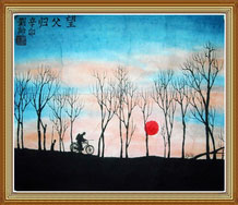 Awaiting the Return of Father Original Chinese Painting
