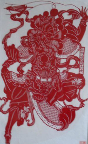 chinese paper cuts god