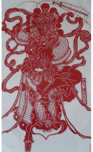 paper cutting patterns chinese god