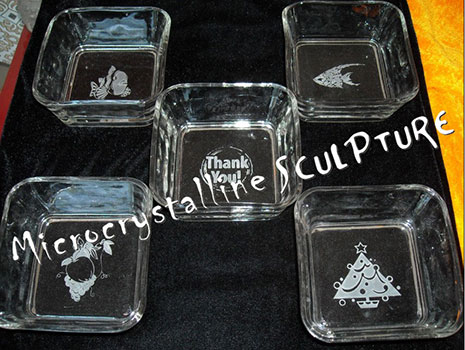 engraved glasses ashtrays engraving
