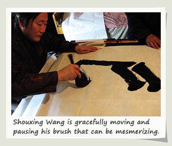 chinese calligraphy disabled artist
