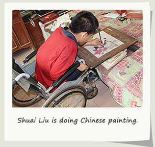 chinese disabled painter