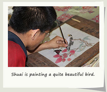 chinese painting disabled artist