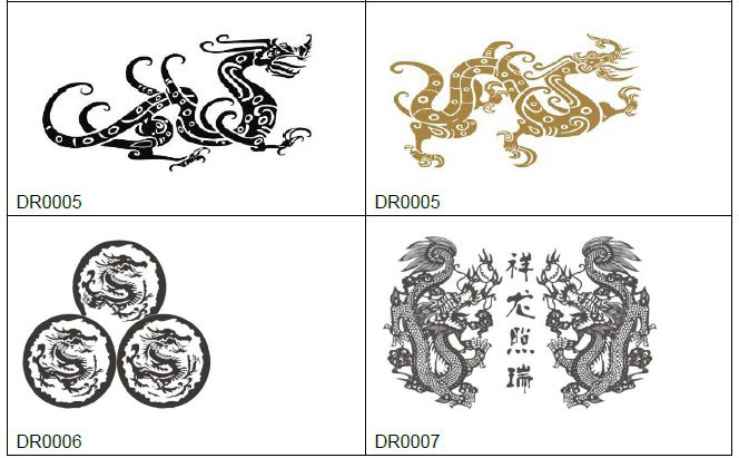 engraving dragon