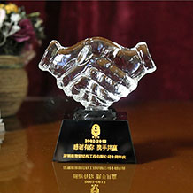 Custom Engraved Crystal Handshake Award Crystal Gift
