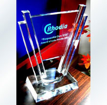 Personalized Engraved Optical Crystal Award