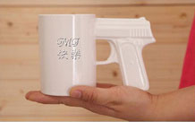 Personalized Engraved Big Mouth Gun Mug / Pistol Cup