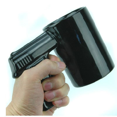 personalized engraved big mouth gun mug pistol cup chinese