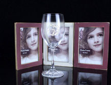 Personalized Engraved Lead Free Crystal Red Wine Glass / Goblet