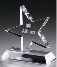 Personalized Engraved Optical Crystal Star Award