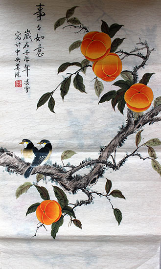 original Chinese paintings of birds artwork for sale