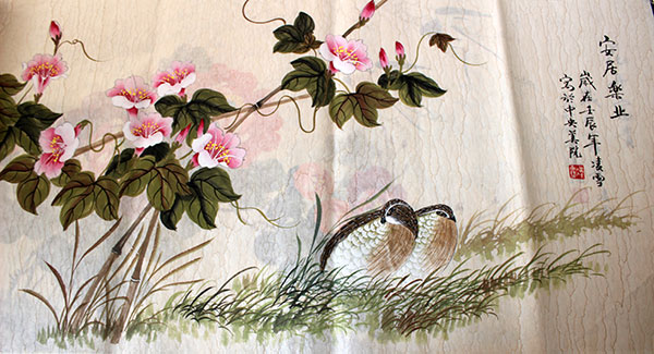 Chinese birds flowers paintings original art for sale