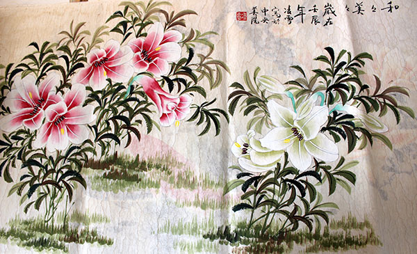 Chinese flowers paintings original art for sale