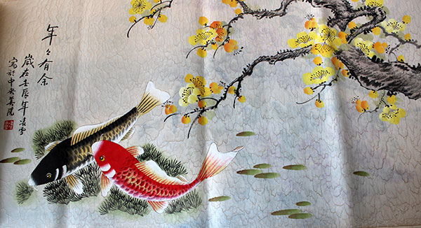 Chinese koi fish painting artwork for sale