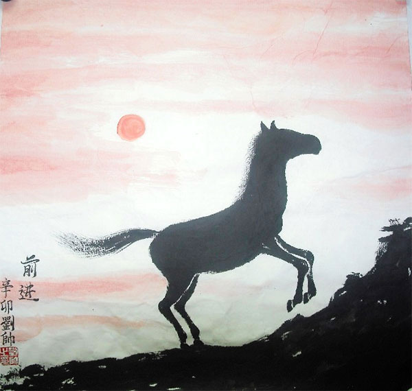 Advancing Horse Original Chinese Painting Wall Art Chinese