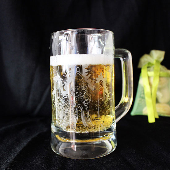 personalized engraved glass beer mug beer stein chinese