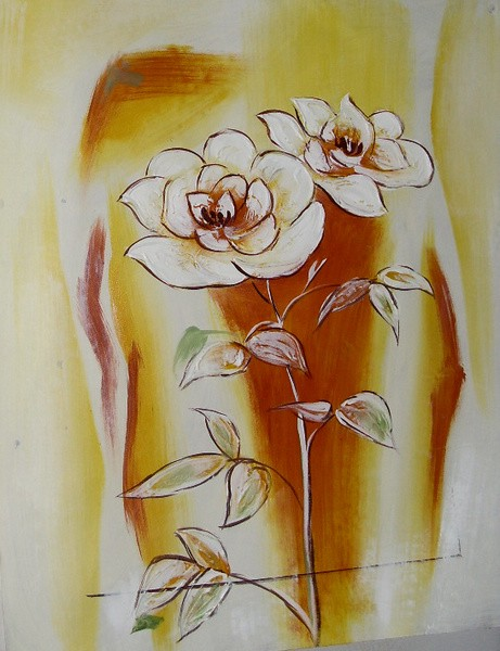 Chinese abstract flower oil painting still life on canva chinese hand painted oil painting white flowers still life on canvas mightylinksfo