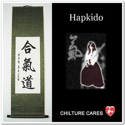 Hapkido Japanese Kanji Calligraphy Wall Scroll
