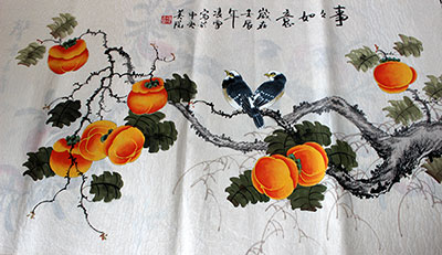Everything Goes Well Chinese Birds Painting Wall Art