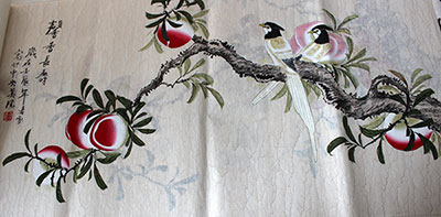 Fragrance and Longevity Chinese Birds Painting Wall Art