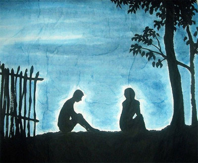Subtle Night Original Chinese Painting Wall Art