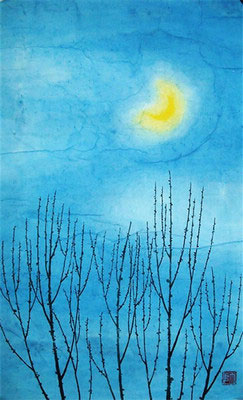 Moonlight Original Chinese Landscape Painting Art
